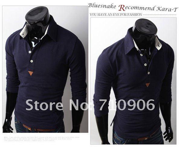 Camisa Polo Masculina Manga Longa Slim Fit Bluesnake - Loja de ... f5f8187ac2551